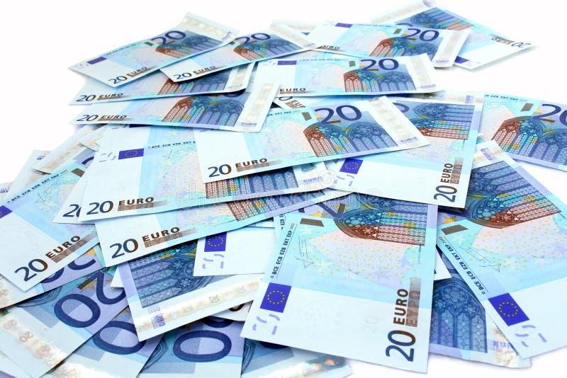 euro 20 royaltyfri fotografi