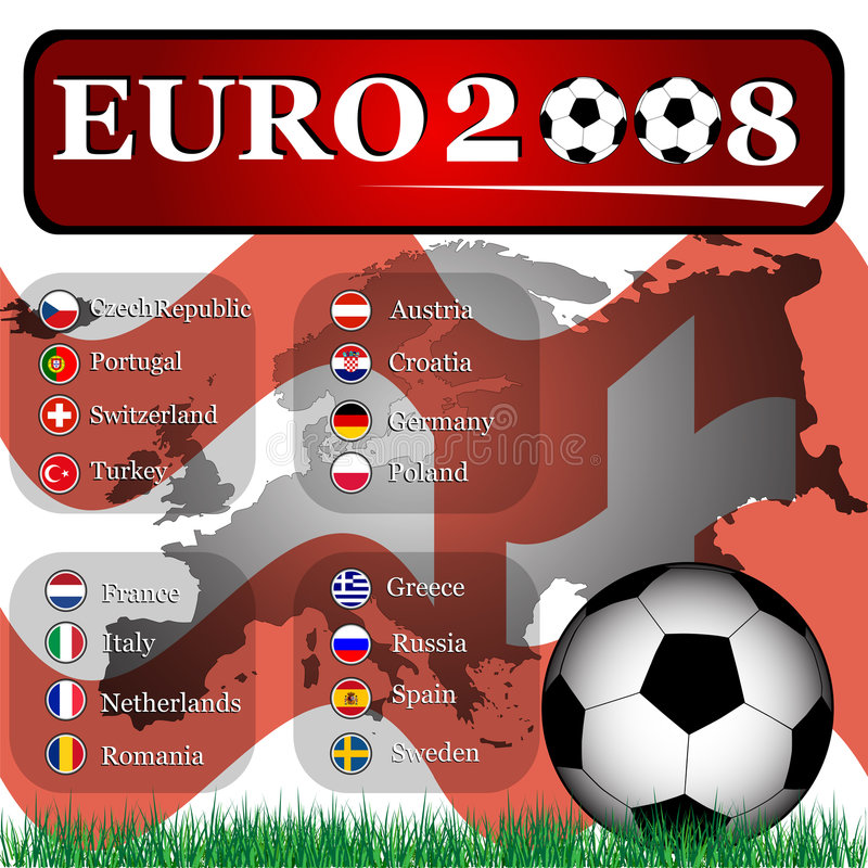Euro 2008 illustration libre de droits