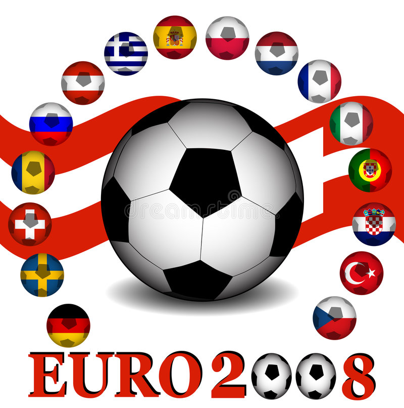 Download Euro 2008 championship stock vector. Image of black, football - 4912951