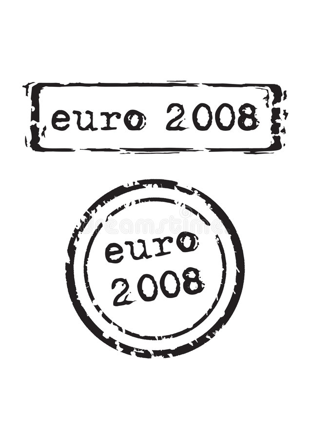 Euro 2008 Stamp. Vector illustration vector illustration