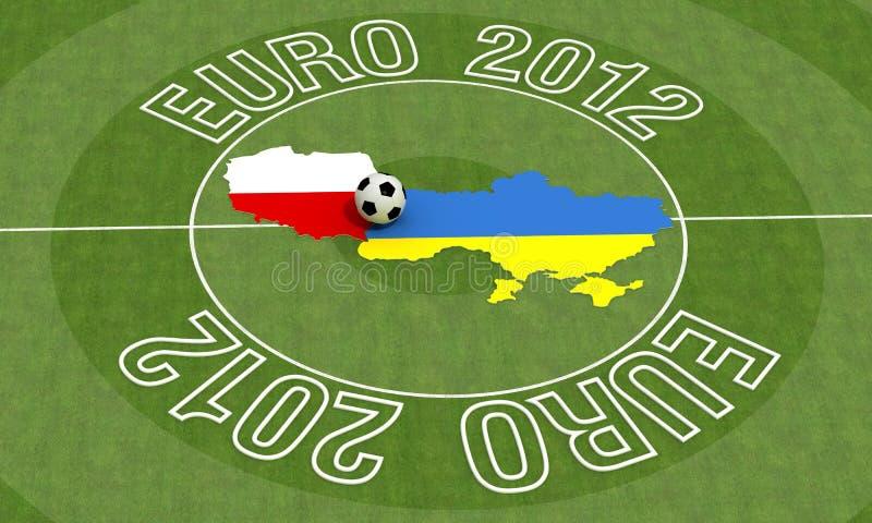 Euro 2012 ilustração stock
