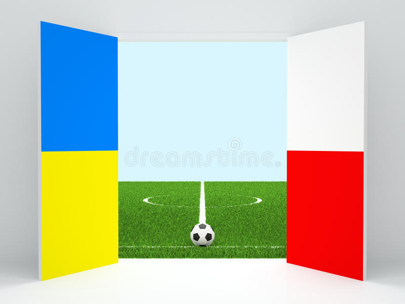 Euro 2012 stock illustration