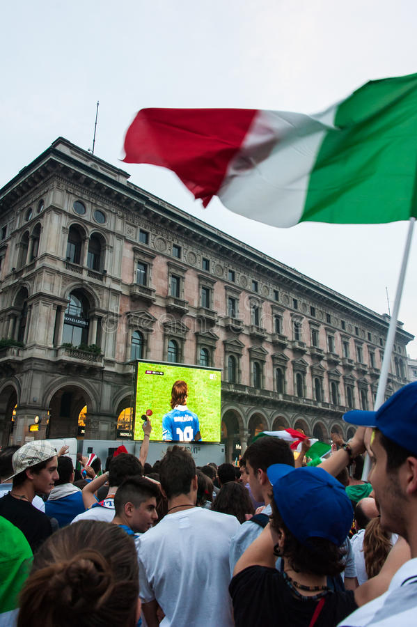 Euro 2012 - Célébration italienne photos libres de droits