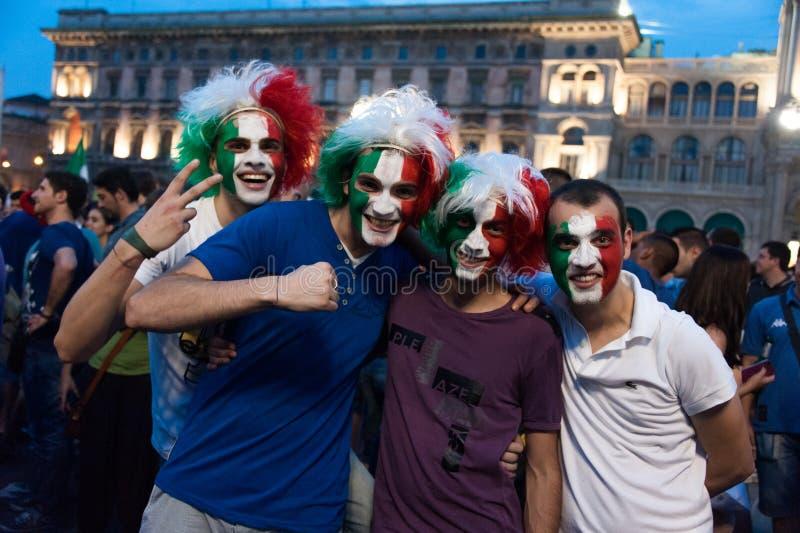 Euro 2012 - Celebração italiana foto de stock