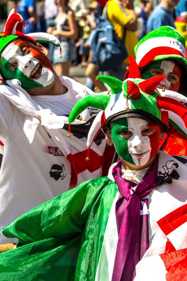 EURO 2012, Italien ventilatorer arkivbild