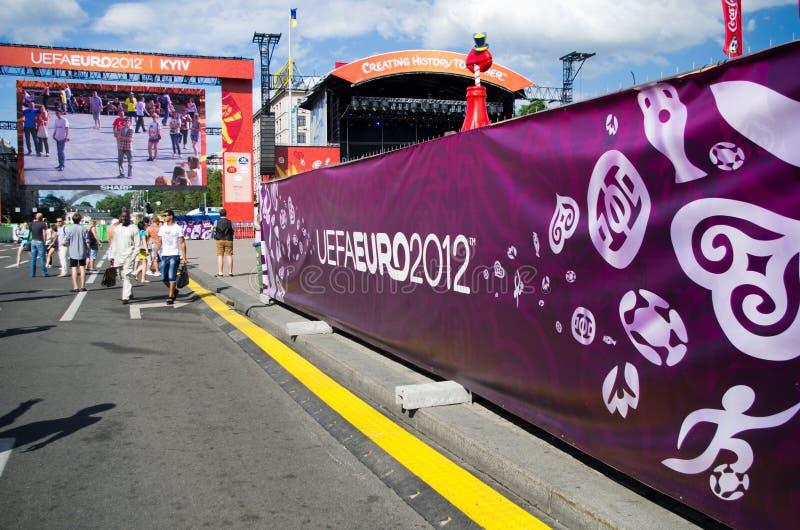 Download Euro 2012 in Kiev editorial photography. Image of maidan - 25270347