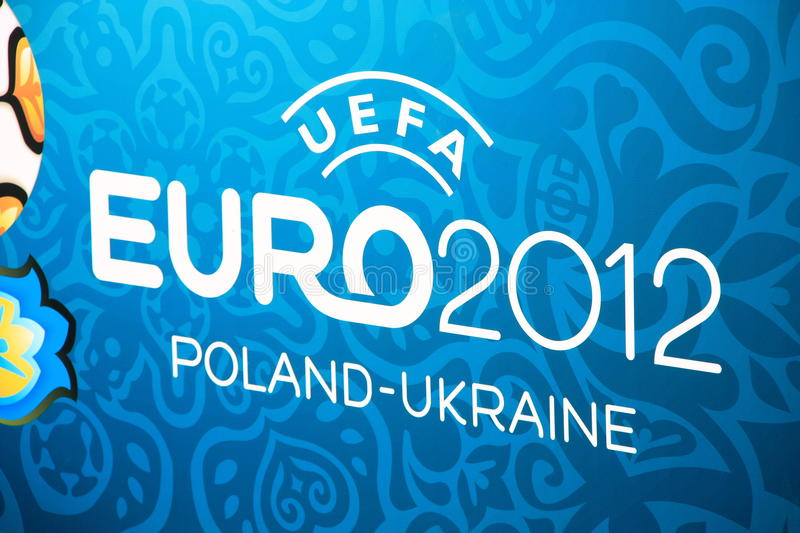 EURO 2012 logo stock photo