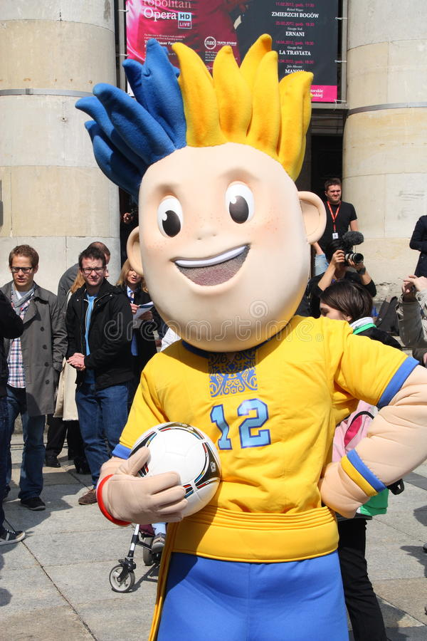 Download EURO 2012 mascot editorial photography. Image of blue - 24532482