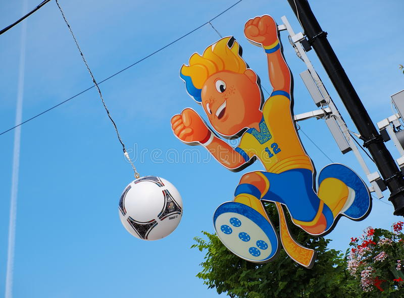 Download Euro 2012 Mascot editorial stock photo. Image of national - 25169063