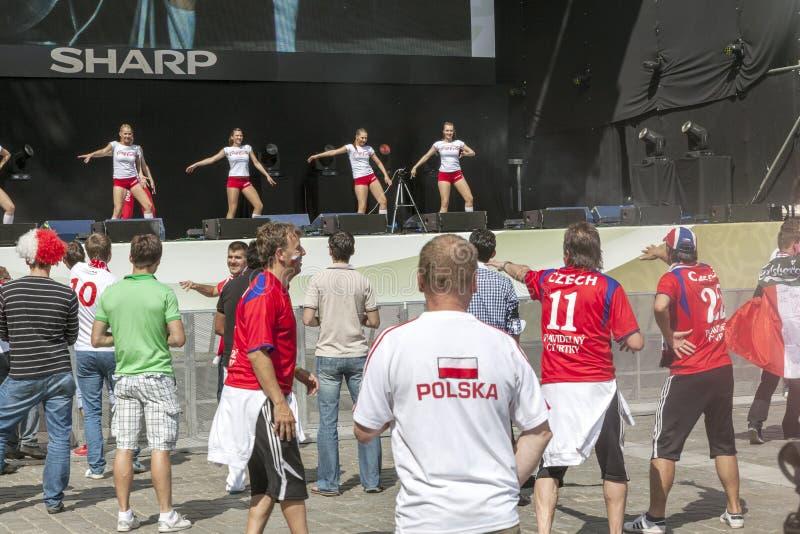 Euro 2012 - Wroclaw, Polonia. fotografia stock