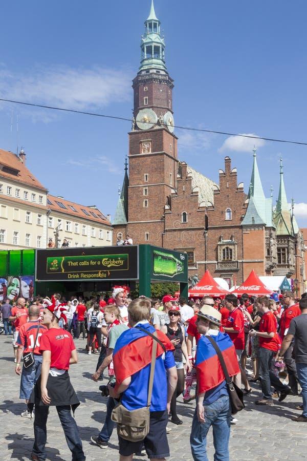 Euro 2012 - Wroclaw, Polonia. immagine stock libera da diritti