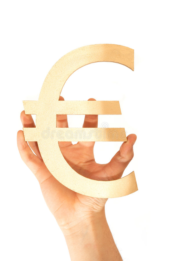 Euro. Sign on white background stock image
