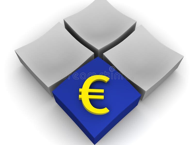 euro ilustracja wektor