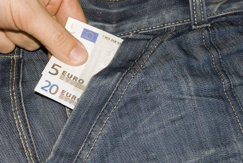 euro 25 kieszeń zdjęcia stock