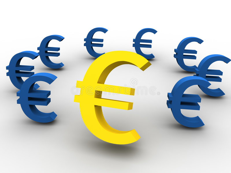 Download Euro stock illustration. Illustration of isolated, close - 2699829