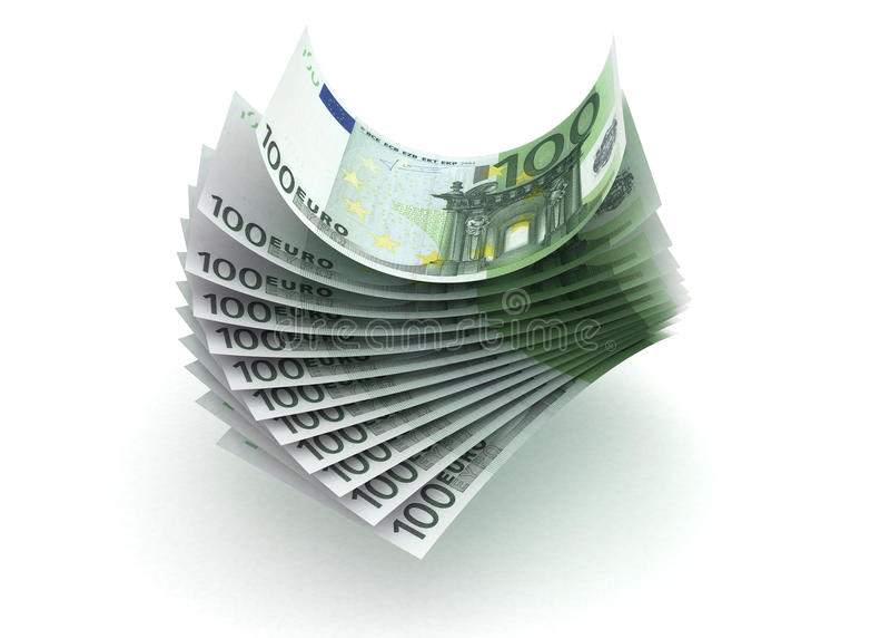 Euro illustration stock
