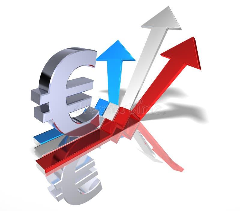 Euro- ilustração stock