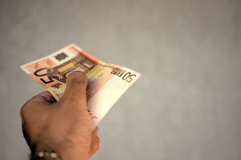 Download Euro 50 imagen de archivo. Imagen de mano, negocios, currency - 44850881