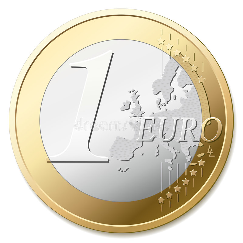 euro royaltyfri illustrationer