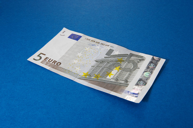 Euro 5 fotografia stock