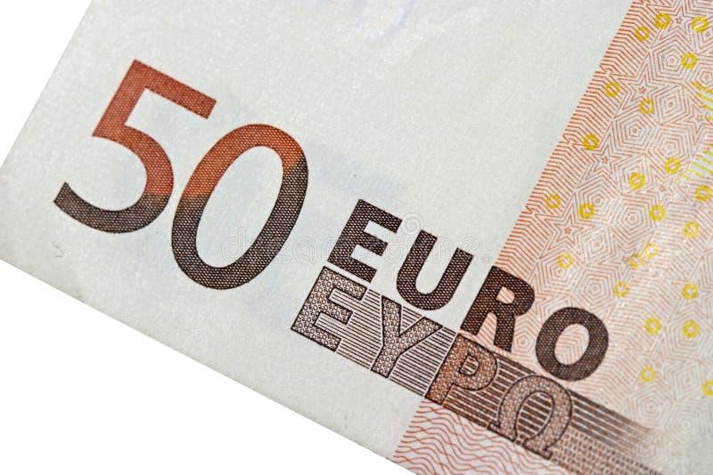 Euro 50 lizenzfreie stockfotos
