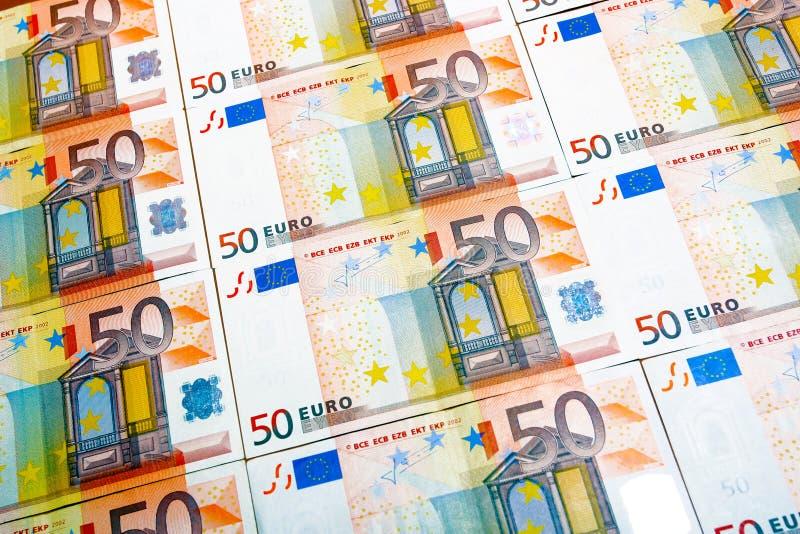 Euro 50 immagine stock libera da diritti