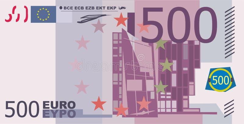 euro 500 stock de ilustración