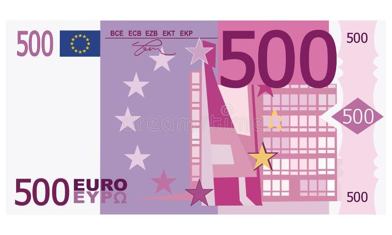 euro 500 ilustração stock