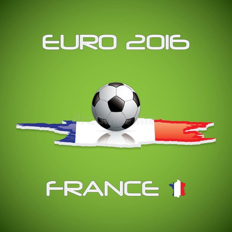 Euro 2016 vektor illustrationer