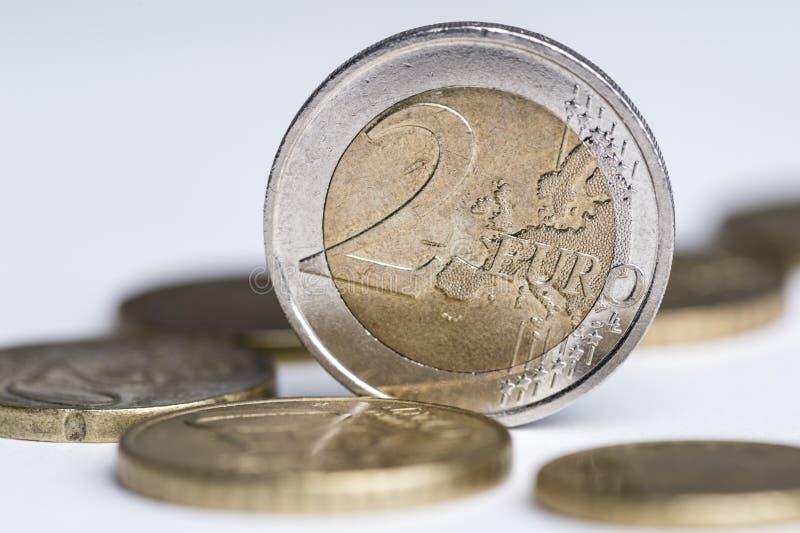 Euro 2 lizenzfreie stockfotografie