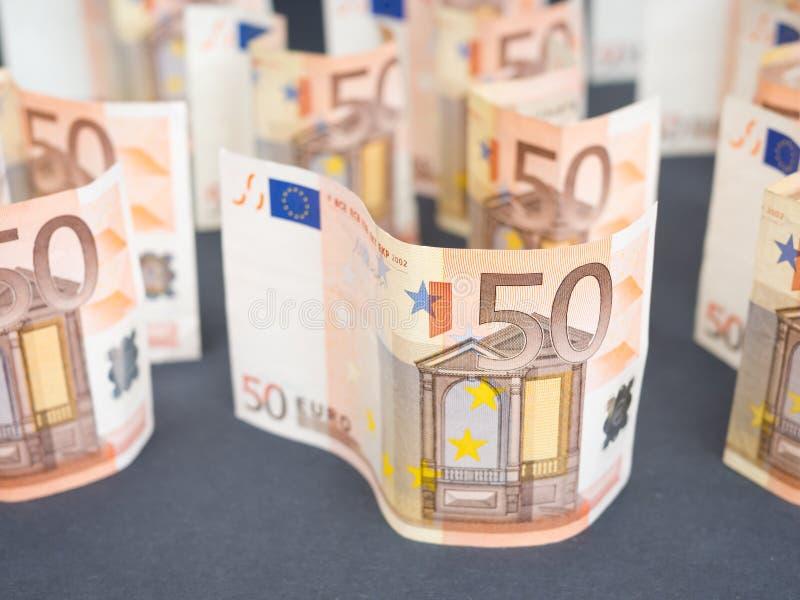 Euro abrégé sur argent images stock