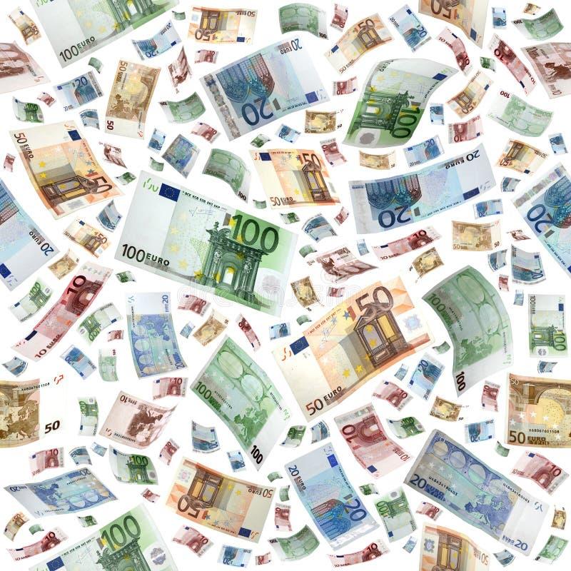 Euro als naadloos royalty-vrije stock afbeelding