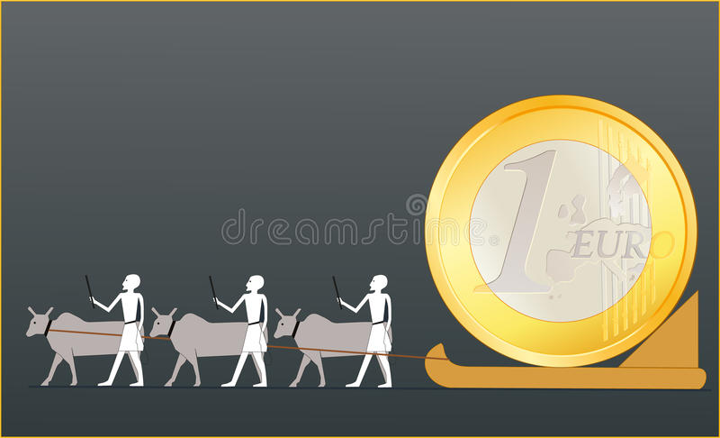 euro antyczni menniczy napędowi egipcjanie ilustracji