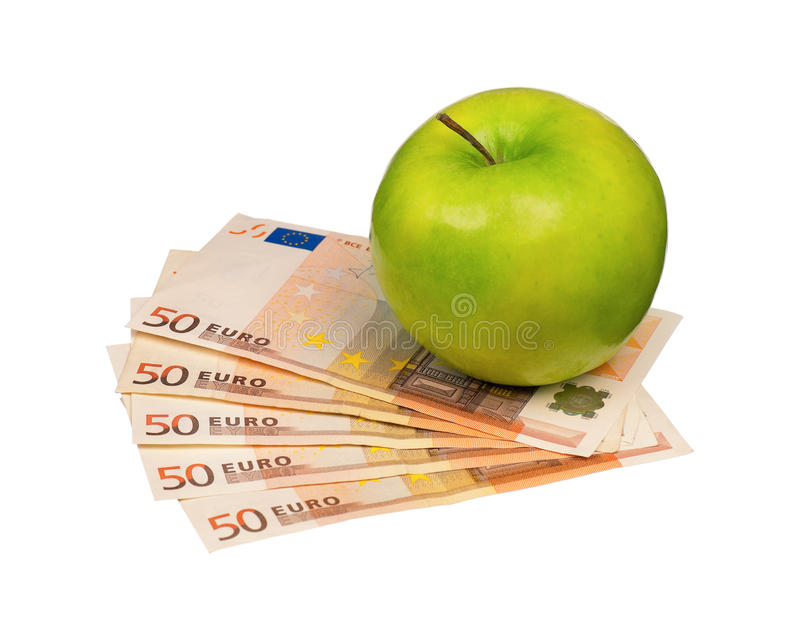Euro And Apple Stock Image