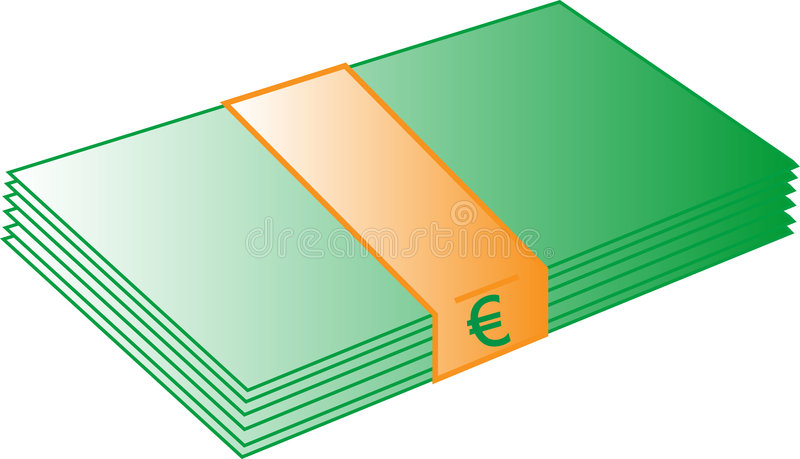 Euro argent illustration de vecteur