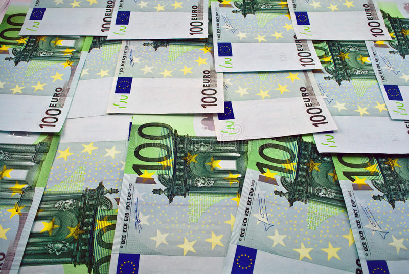 Euro argent de billets de banque photographie stock libre de droits