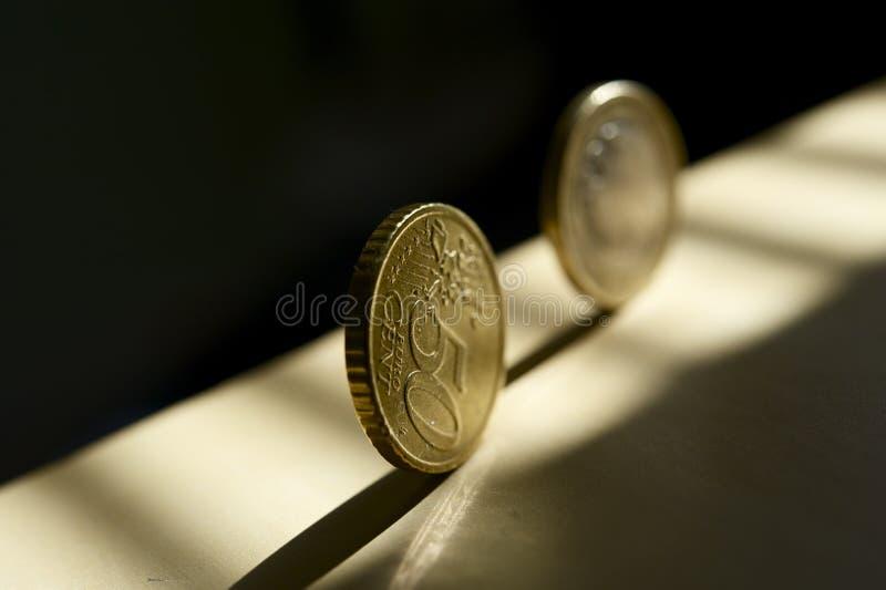 Euro argent de roulis photos stock