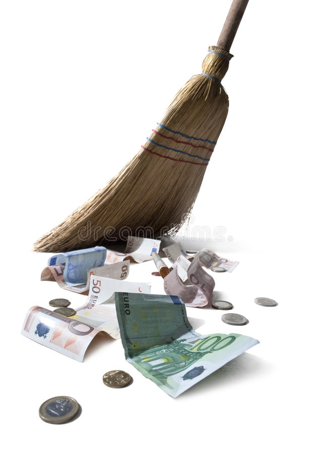Euro arrebatadores foto de stock