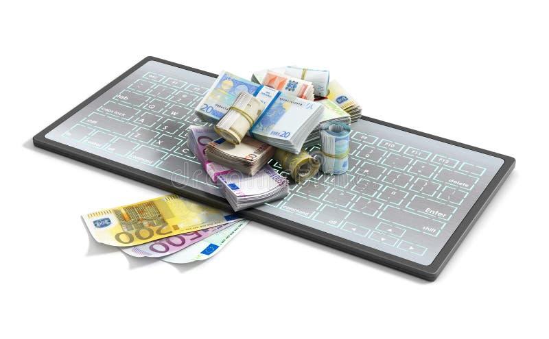 Euro auf Tastatur lizenzfreie stockfotos