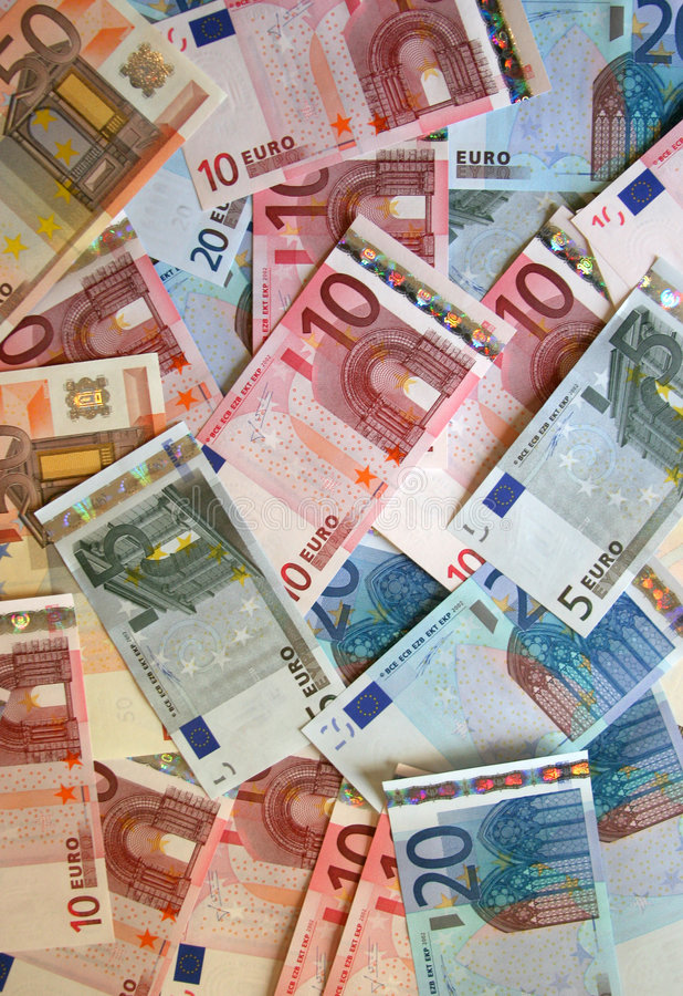 Euro background. Background image made of Euro currency