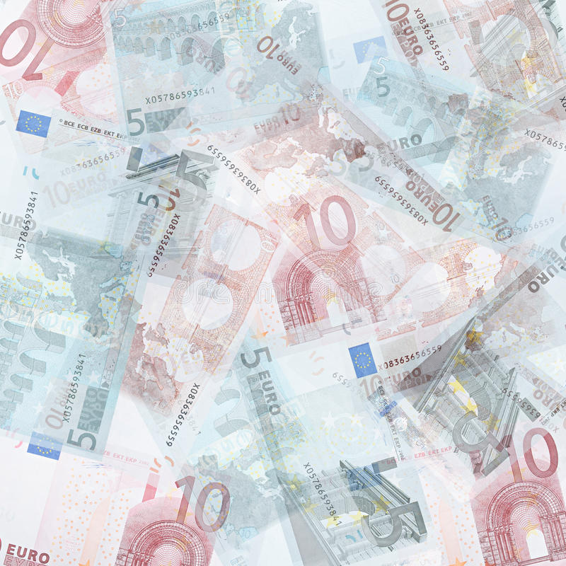 Euro background. Abstract money background from translucent euro royalty free stock photos