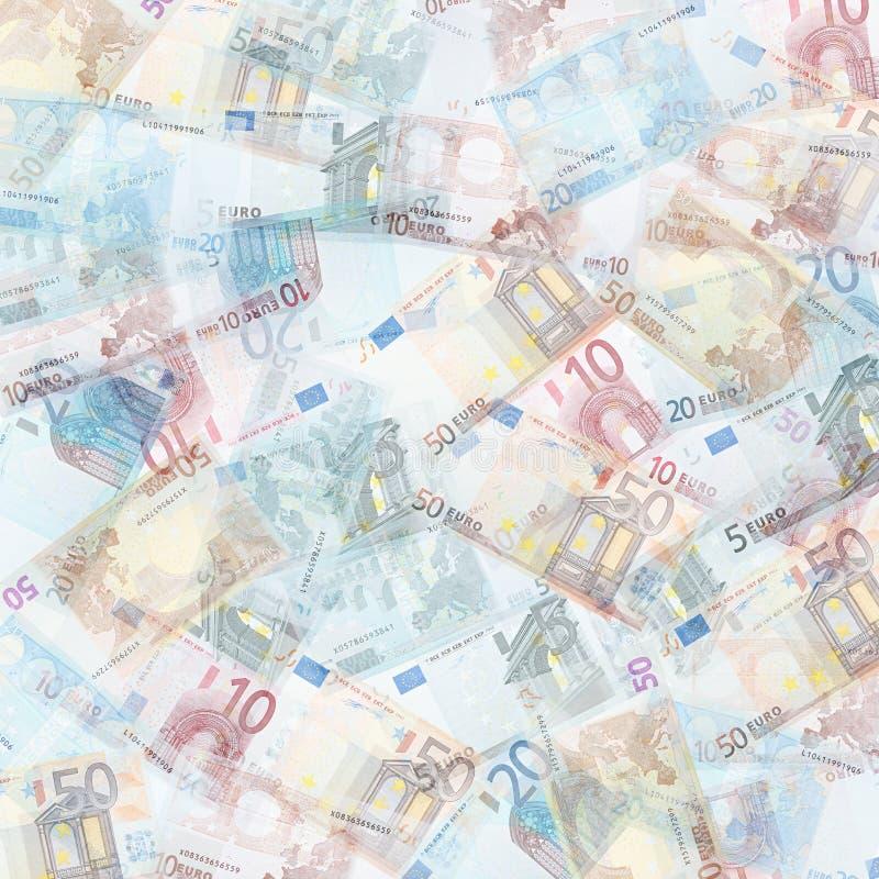 Euro background. Money background from translucent euro royalty free stock image