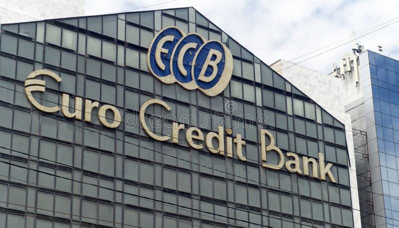 Euro banca di credito fotografia stock