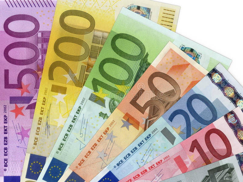 Euro banconote dei soldi fotografia stock libera da diritti