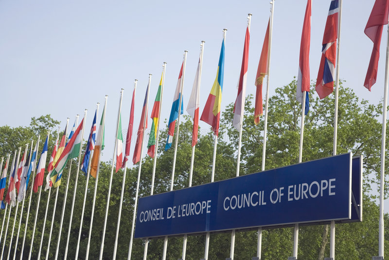 Euro- bandeiras imagens de stock royalty free