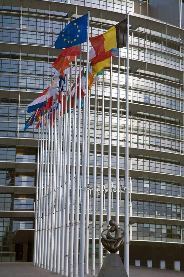Euro- bandeiras fotografia de stock