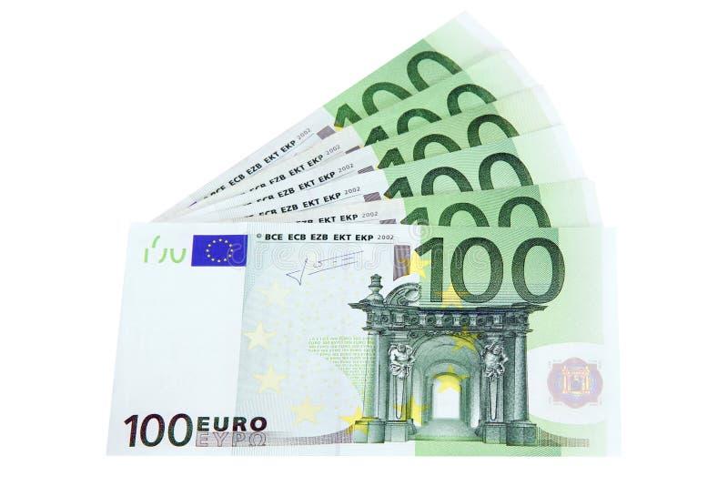 Euro bank notes stock image