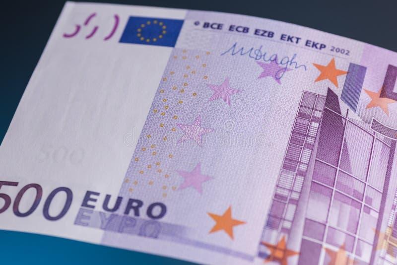 Euro bankbiljet 500 royalty-vrije stock afbeeldingen