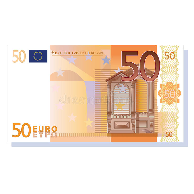 euro bankbiljet 50 stock illustratie