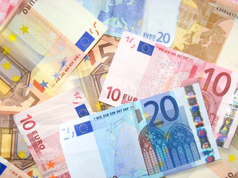 Euro bankbiljetten stock fotografie